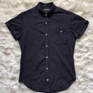 Zara Short Sleeve Button Up Shirt